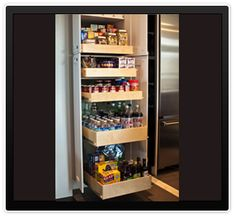 Looking for an alternative to the high cost of a complete kitchen renovation? These sliding shelves from Gliding Shelf Solutions Inc. will beautify your home and give you 100% accessibility to your cabinets. Imagine the benefits of being able to see everything in your cabinets and not have to spend money on pantry items you already have.
