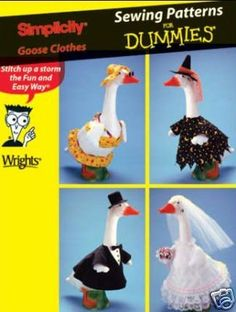 Rare LAWN GOOSE Clothes Sewing Pattern