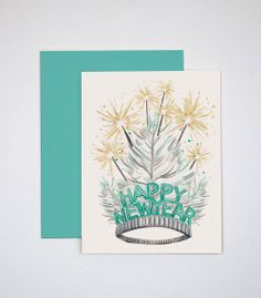 New Year's Tiara Greeting Card | Rocket Ink