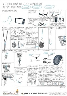 21 Cool ways to use a paper clip