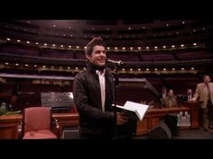 "David Archuleta sings ""Be Still My Soul"" to the Mormon Tabernacle Choir  What a beautiful performance!"