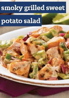 Smoky Grilled Sweet Potato Salad -- Sour cream gives this recipe its creamy texture and a bit of tanginess. It gets a flavor boost from brown sugar and smoked paprika.