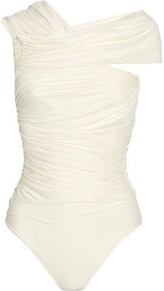 ShopStyle: Clube Bossa Couture asymmetric ruched swimsuit