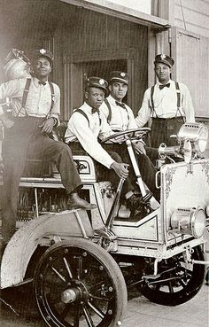 Hose Company No. 4 | 1919  African American fire fighters stationed at Hose Company No. 4, Los Angeles, CA