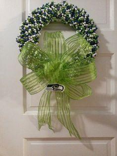 Seattle Seahawks Wreath on Etsy, $45.00