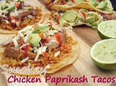 Smokey Chicken Paprikash Tacos from NoblePig.com
