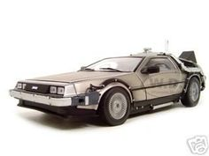 """Delorean Time Machine From """"back To The Future Ii"""" Movie Diecast Model 1/18 Die Cast Car By Sunstar"""