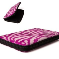 Premium Designer Pink Zebra Case for Amazon Kindle Fire, Full Color 7