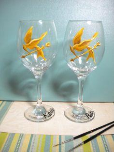 Hunger Games Wineglasses
