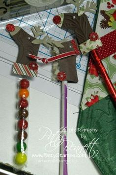Reindeer made out of Stampin' Up!'s stocking punch/die