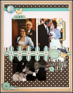 HIP KIT CLUB August 2012 - Wedding Day Layout Pg 2 - Scrapbook.com