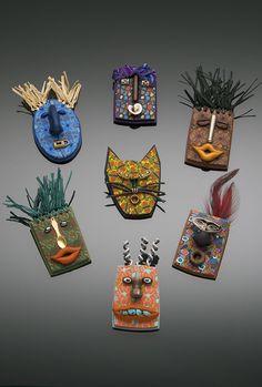 Mini mask pins...ooo the possibilities.=}