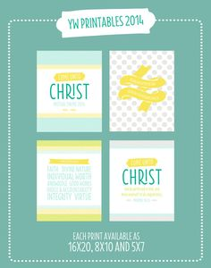 2014 LDS Young Women's Mutual Theme Printable by alexazdesign
