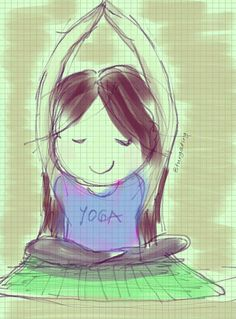 Flow Yoga by Note2 #Illustration #Cartoon #Yoga
