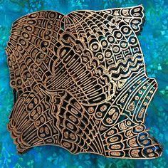 Copper batik cap