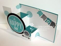 Stampin' Up! Fun-Fold Card by Leann G: Feb Starburst Club Card with FREE Tutorial