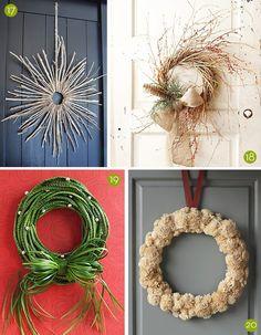 25+ Creative #DIY Holiday Wreaths! #Christmas
