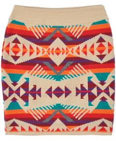 pattern, colors, mini skirts, brown boots, blankets