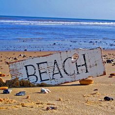 Vintage Beach Cottage Sign