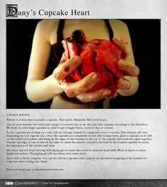 """""""Red velvet. Mmmmm. Red velvet heart."""" MORE RECIPES: http://itsh.bo/LQC1sC #cupcake #daenerys #gameofthrones #food #redvelvet"""