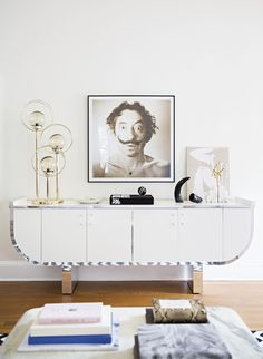 Fashionable home inspiration from Laura Naples and Kristen Giorgi of NG Collective #livingroom #homedecor #salvadordali #interiordesign