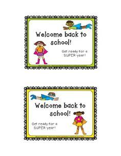 Free!  Welcome Back to School Postcards for Your Students