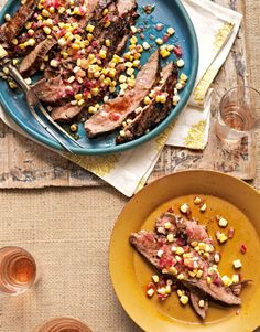 Grilled Flank Steak with Corn Relish