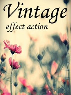 Photoshop actions for retro effect