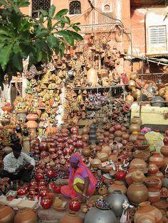 at the market , India