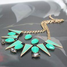 Uptown Girl turquoise green tribal enameled by UnderCoverFashLover, $28.00