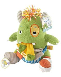 THAT'S where those missing socks are hiding! This plush monster (which comes with 4 pairs of baby socks) would make a perfect #babyshower present. Click above to buy one!