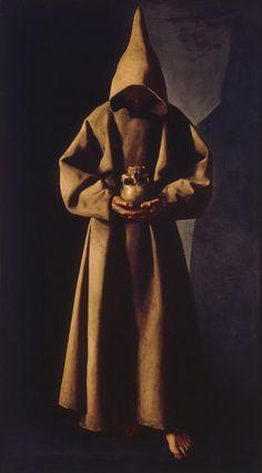 """Francisco de Zurbarán - """"St. Francis of Assisi in His Tomb"""""""