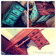 Old Desk Repurposed into Nightstands #ChicCountryChick So doing this to my papa's old desk this will look gorgeous!