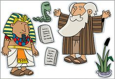 Moses en Pharao verhaal elementen om te printen // Moses and Pharao story elements to print