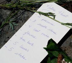 campout part - nature hunt/scavenger hunt