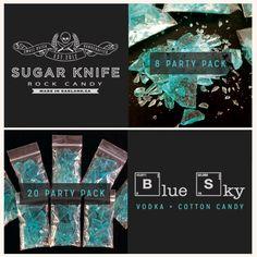 """Blue Sky"" Rock Candy / Sugar Knife Artisan Sweets"