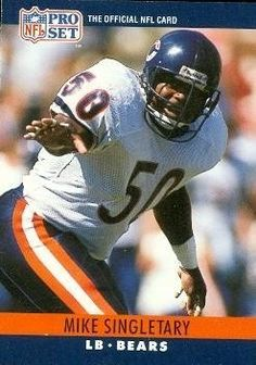 Mike Singletary Football Card (Chicago Bears) 1990 Pro Set #57 by Hall of Fame Memorabilia. $30.95. Mike Singletary Football Card (Chicago Bears) 1990 Pro Set #57. Signed items come fully certified with Certificate of Authenticity and tamper-evident hologram.