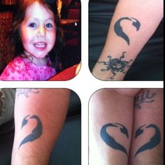 My husband nicknamed our daughter penguin. We each have a tribal Emperor Penguin tattoo on our forearm, when we hold hands together they form a heart for our baby girl Kianii Jade who is now 10 ;)