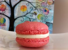 Easy French Macaron Recipe (Macaroons) | HowToCookThat : Best Birthday Cakes Desserts Parties Gingerbread Houses & Cake Pops Macaron Recip, Sweet, Food, Strawberries, French Macaron, Cooki, Easy French Macaroons Recipe, Macaroon Recip, Cream