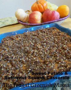 Sweet potato & butternut squash casserole