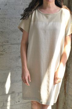 handwoven basket weave twill dress by voices of industry