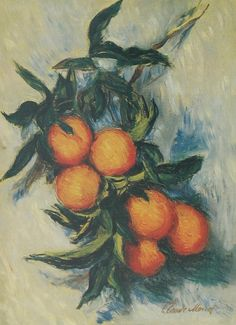 Orange Branch Bearing Fruit, 1884, Claude Monet