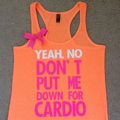 Pitch Perfect - Neon Tank - Womens Fitness Clothing - Workout shirt...would love this for the gym!
