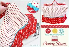Moda's Half Moon Modern Sewing Room: Sewing Machine Cover