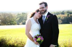 """Read all about Kim & Julien's """"no rules"""" audiophile/bibliophile wedding on Poptastic Bride. Photos by Brett Alison."""