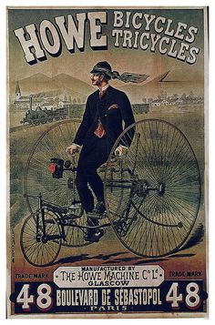 Carteles de bicicletas antiguas