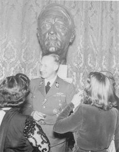 The Deputy Reich Protector SS-Obergruppenführer Reinhard Heydrich at the Rudolfinum, Prague, October 16, 1941.