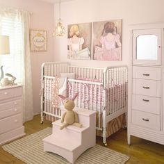 This pink ballerina nursery is beautiful, frilly and all things GIRL! #nursery #babygirl