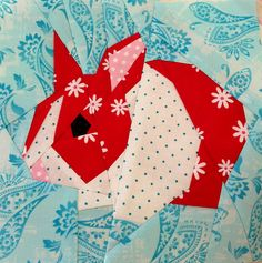 Paper pieced bunny!  @Heather Creswell Creswell Andrus. It would make a great quilt