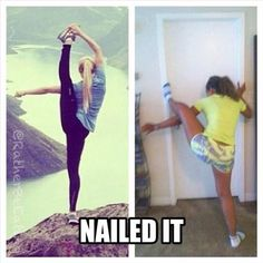 Hahah this is what I would look like trying to do this!!! :)